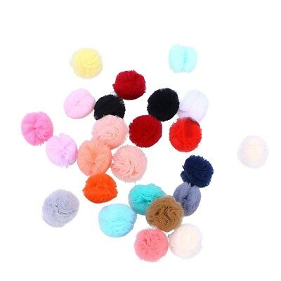 24Pcs Cute Puppy Dogs Bowknot Hair Clips Hair Bows Gauze for Cats Dogs Pet Puppy