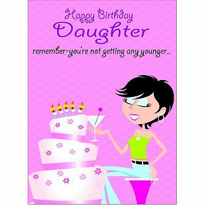 Doodlecards Funny Daughter Birthday Card