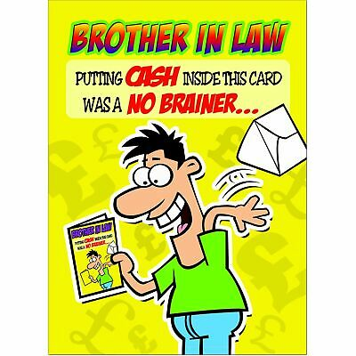 Doodlecards Funny Brother In Law Birthday Card