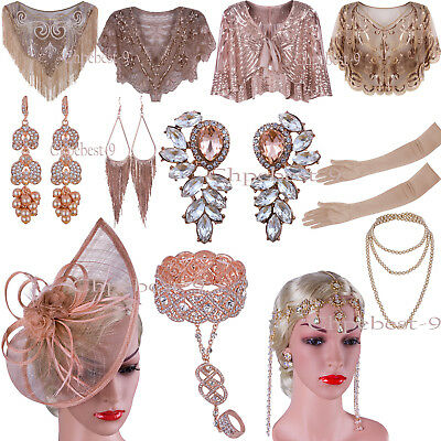 Christmas 1920s Flapper Dresses Party Accessories Evening Gowns Gatsby Headbands
