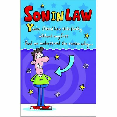 Doodlecards Funny Son In Law Birthday Card