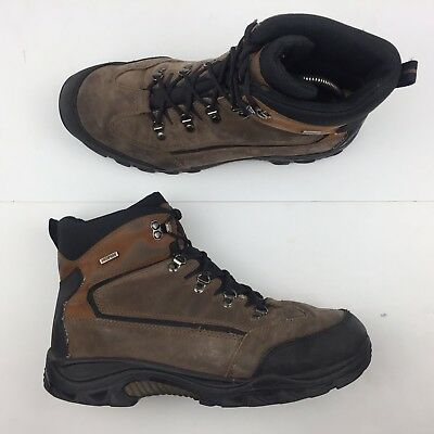09424cb9d9cb Wolverine Spencer Brown Leather Hiking Boots Waterproof Shoes Men s Size 11M