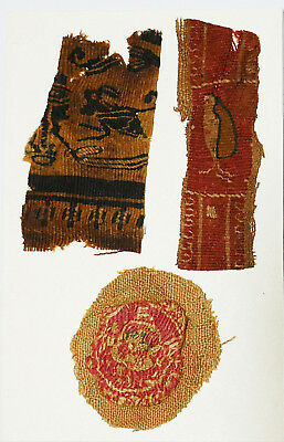 4-8C Ancient Coptic Textile - Three Fragments, Christian Arts