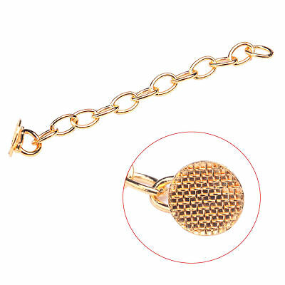10pcs Dental Orthodontic Traction Chain Golden Round Mesh Base Lingual Buttons