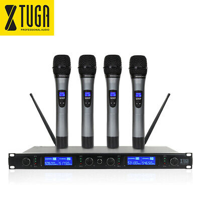 E220 UHF Wireless Microphone System 2 Whole Metal Handheld Microphones for stage