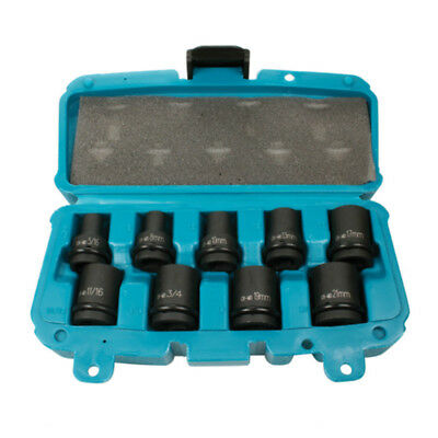 "Makita P-46953 9pc 1/2"" Sq Impact Socket Set Metric Imperial"