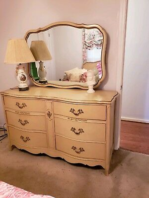 BEAUTIFUL VINTAGE FRENCH Provincial style Bedroom Set (ca ...