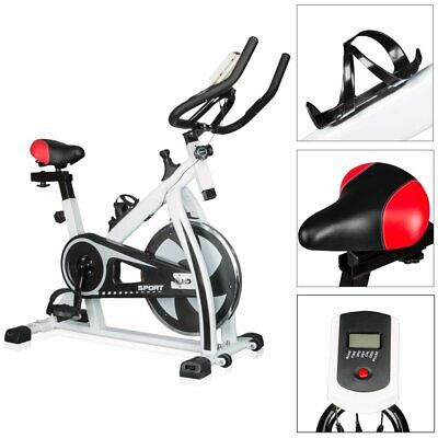 White Cycling Trainer Fitness Exercise Bike Stationary Cardio Home Indoor