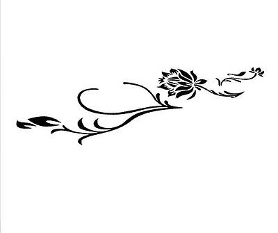A Black flower car sticker Bumper Van Window Laptop JDW VINYL Decals Stickers