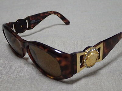 65bd1a360dd9 Gianni Versace Sunglasses Mod 424 C Rh Col 869 Od Brown Authentic Vintage  Medusa