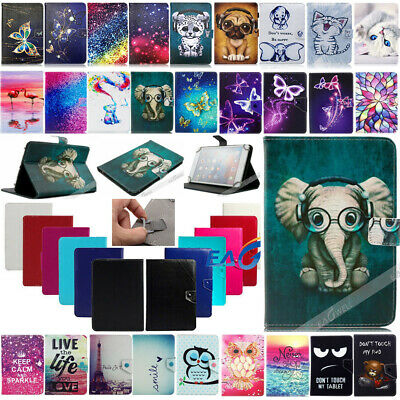 Universal Pattern Stand Leather Case Cover For Laser 7 / 10 Inch Android Tablet