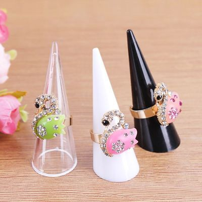 Finger Ring Display Shelf Acrylic Cone Ring's Holder Jewelry Exhibition Stand