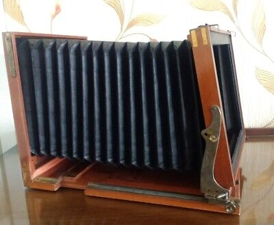 """Large Format Field Camera Plus Vintage Brass Lens And A Shutter Mechanism 9""""x9"""""""