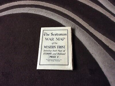 The Scotsman war map of the western front