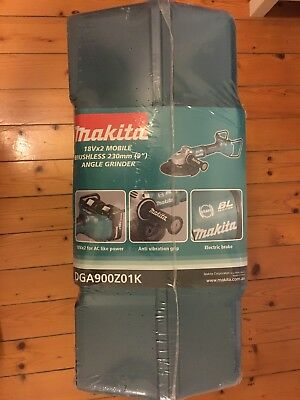 Makita DGA900Z01K 36V Li-Ion Cordless Brushless 230mm Angle Grinder - Skin Only