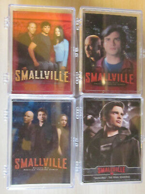 Smallville - 4 Trading Card Sets  - Inkworks / Cryptozonic