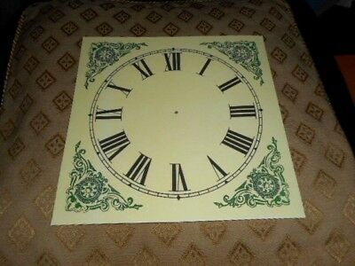 "Mantle/Shelf Paper Clock Dial-5"" M/T-MATT CREAM-Corner Designs-Face/Parts/Spares"