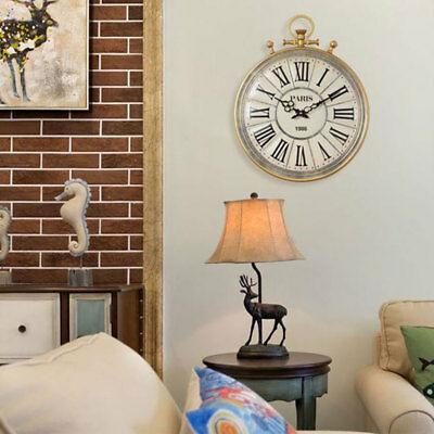 gold Kensington Station Pocket Watch Style Wall Clock Classic Style 42cm