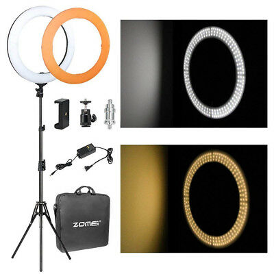Studio 14inch 35cm Photo Video Ring Light + Camera iPhone Holder + 190cm Stand