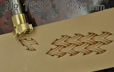 Leather crafting stamp tool for leather making crafts stamps brass#163