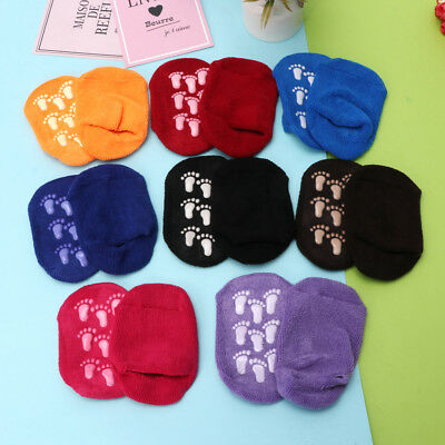 Girls Boys Baby Non-slip Cotton Child Small Footprints Floor Candy-colored Socks