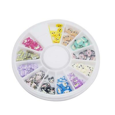 3D Colorful Stickers Nail Art Tips Fimo Animal Cartoon Clay Sticker with Box one