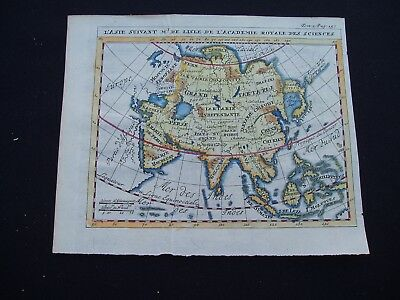 1730 Guillaume de l'Isle Map Middle East Asia Indonesia China Genuine Antique