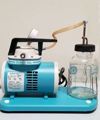 Schuco Vac 130 Aspirator Vacuum Pump With Glass Canister (Brand New/Old Stock)
