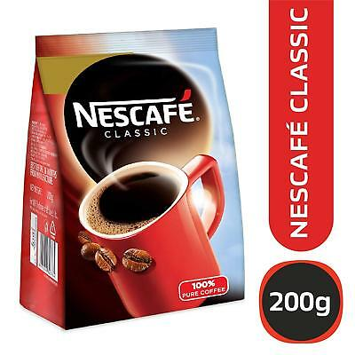 Nescafe 100% Pure Classic Instant Coffee Powder Pouch Packet,200 gm Free Ship GJ