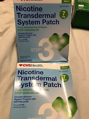 CVS Health Nicotine Transdermal System Patch 7mg Step 3, 28 Patches Exp 6/18