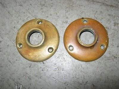 Pair of antique cast brass Yale doorplates