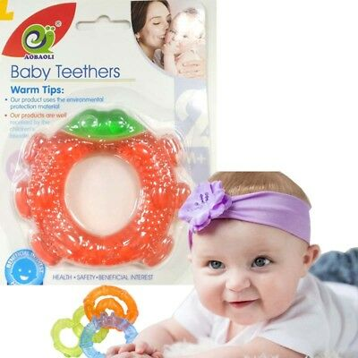 Baby Teether UK Silicone Bite & Brush Chewy Teething Healthy Soft Fun chill Toy