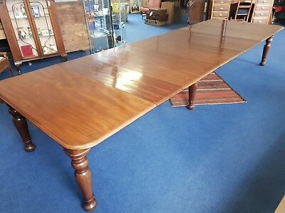 Stunning Victorian Mahogany Extending 14ft table