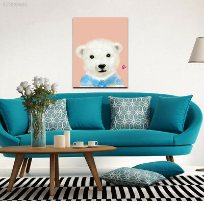 A67A Cartoon Bear Oil-Picture Living-Room Wall Decoration Painting Animal Art-Po