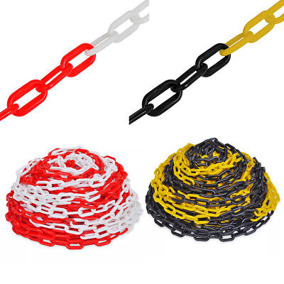 30m Plastic Barrier Warning Chain Link Caution Safety Decorative Garden Fence