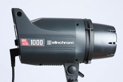 Elinchrom ELC Pro HD 1000/1000 Studio Flash - hardly used excellent condition