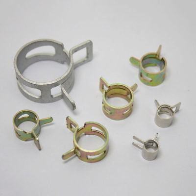 4mm~22mm Dia Fuel Line Hose Spring Clips Water Pipe Air Tube Clamps 10~50PCS K12
