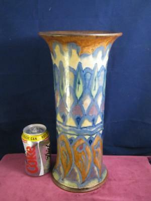Stunning Rare Large Royal  Doulton Vase Unusual  Art Deco Geometric Pattern