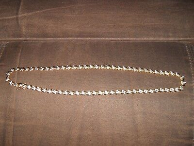 """Ladies Fancy Two-Tone Y.G.P.  Solid Sterling Silver Necklace """"Beautiful Design"""""""