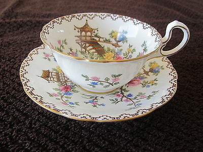 Aynsley Teacup and Saucer  Vintage 1920's