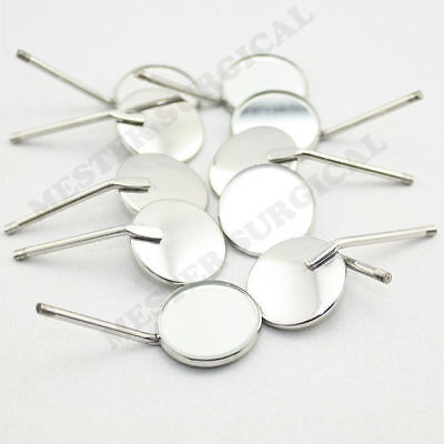 100 Pcs Dental Mouth Mirror Reflector Odontoscope Equipment # 4 Stainless Steel