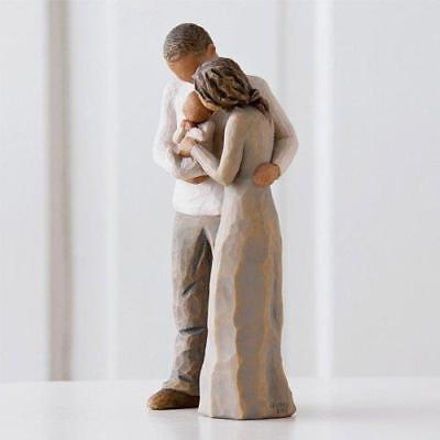 Willow Tree We Are Three Ornament Figure Couple Male Female New Baby Figurine