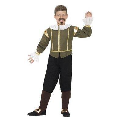 Boys's William Shakespeare Fancy Dress Costume Tudor Years Wold Book Events