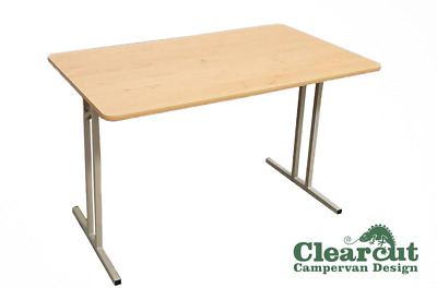 Folding, Free Standing Campervan/Motorhome Table, 600 x 1000mm, Cherry Finish