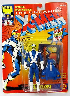 Marvel The Uncanny X-men Cyclops Laser Light Eyes Action Figure 1991 ToyBiz MOC