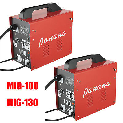Portable Mig-100 / Mig-130 No Gas Gasless Flux Wire Welder Welding Mask Machine