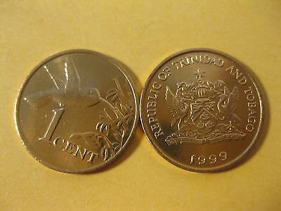 Trinidad and Tabago 1 Cent coin  Hummingbird  Animal Bird BU coin jewelry