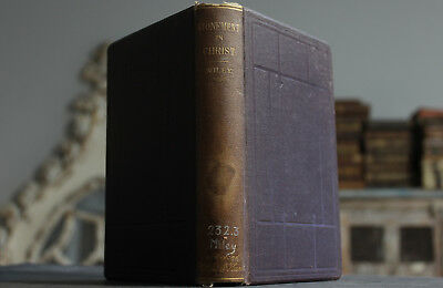Antique Rare Old Book The Atonement In Christ 1879 1st Edition Scarce Religion