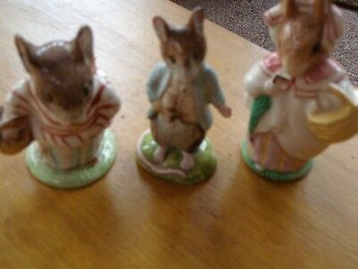 Three Beatrixpotter  Figures