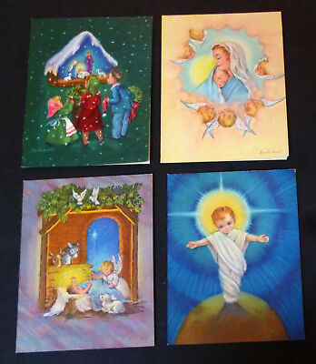 LOT Vintage UNUSED Cards 1950s Eve Rockwell Angels Madonna Religious BEAUTIFUL!
